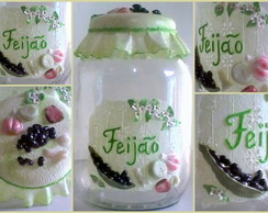 POTE DECORADO BISCUIT FEIJ�O
