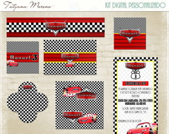 KIT DIGITAL FESTA CARROS DISNEY