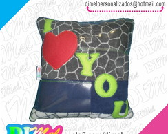 Almofada I LOVE YOU - pelucia