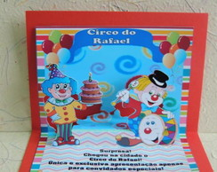 Mini Convite Pop-up Circo!!
