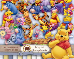 Kit Scrapbook Digital - Ursino Pooh