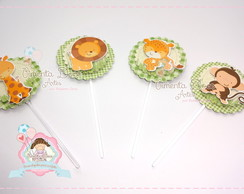 TOPPERS/TAGS SCRAP 5 cm Safari
