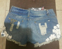 Short Jeans Bordado Lindooooo