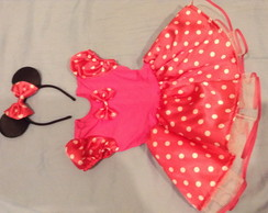 Fantasia da Minnie com Rosa com Body