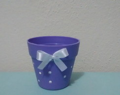 Mini vasinho decorado com po�