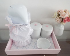 Kit Porcelana - Cole��o Paris - Rosa