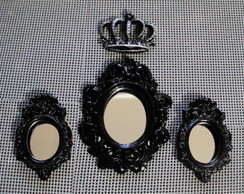Kit Espelhos Decorativos Black Princes