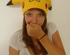 touca modelo personagem Pikachu