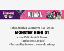 Faixa Decor. c/ nome - Monster High 01