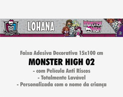 Faixa Decor. c/ nome - Monster High 02