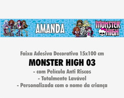 Faixa Decor. c/ nome - Monster High 03