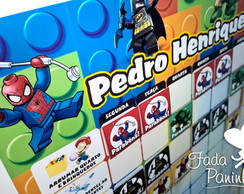 Quadro de Incentivo LEGO HER�IS