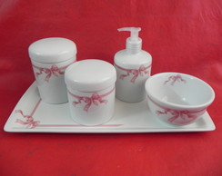 Kit Higiene Porcelana Bebe Cinco Pe�as