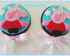 Pirulito de Chocolate Peppa