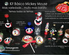 Kit de Adesivos e Tags B�sicos Mickey