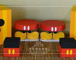 KIT CUBOS E BANDEJAS MICKEY - 06 PE�AS