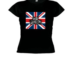 Camiseta baby look sex pistols