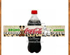 R�tulo Coca Cola Mickey Safari