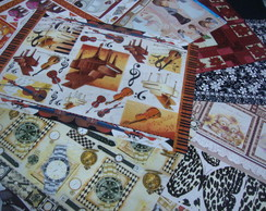 kit 4 com pap�is de decoupage variado