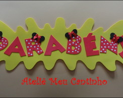 Painel parab�ns minnie