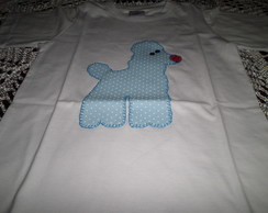 CAMISETA INFANTIL APLIQUE PODDLE.