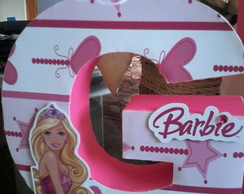 Letra 3D barbie escola de princesas