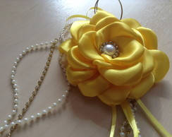 head band flor boleada