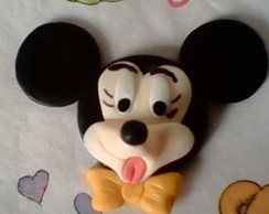 Aplique carinha do mickey biscuit.