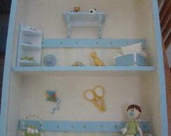 Quadro beb� com miniaturas