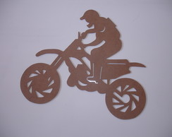 Moto Cross 1 MDF 3 mm 40 x 35