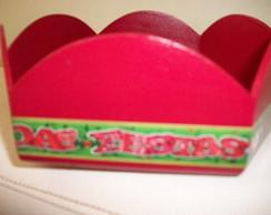 Cachep� sextavado de Natal (vendida)