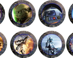 Star Wars 25 Toppers Adesivo