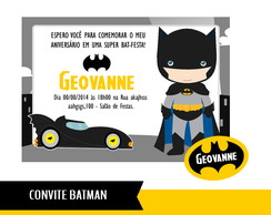 Convite Digital Batman