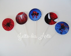 Topper para cupcake/doces spider man