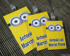 Kit 3 Bagtags - MINIONS