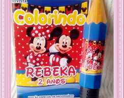Revista Colorir Mickey e Minnie c/ l�pis