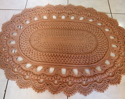 Tapete Russo Oval Bege 70x92cm
