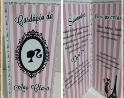 Card�pio Personalizado Barbie