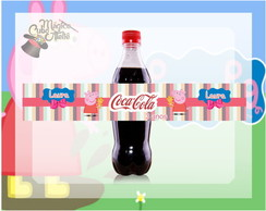 R�tulo Mini Coca-Cola - Peppa Pig