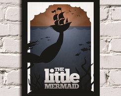 Poster com Moldura Little Mermaid