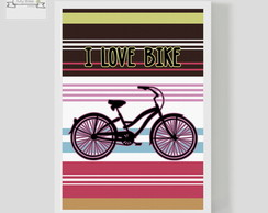 Poster Decorativo I LOVE BIKE color