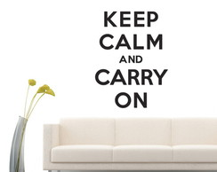 Acr�lico - Keep a Calm and Carry On