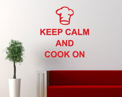 Acr�lico - Keep a Calm and Cook On