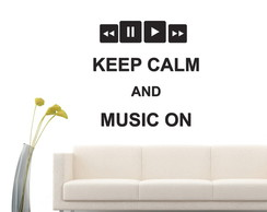 Acr�lico - Keep a Calm and Music On