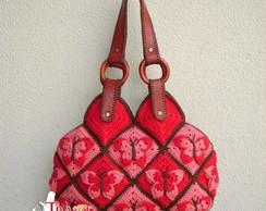 Bolsa Farfalla - Vermelha e Goiaba