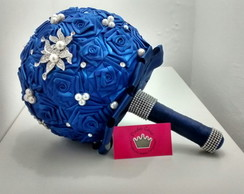 Buque de Broches Azul Royal