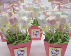 Centro de mesa marshmallow hello kitty