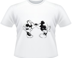 Camiseta Mickey e Minnie Personalizada