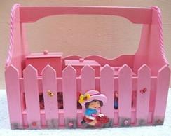 Cesta higi�nica decorada com 3 portes