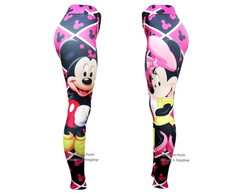 Cal�a Legging Mickey e Minnie Mouse